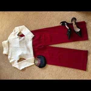 Gorgeous Red pants by MODA . Victoria Secret